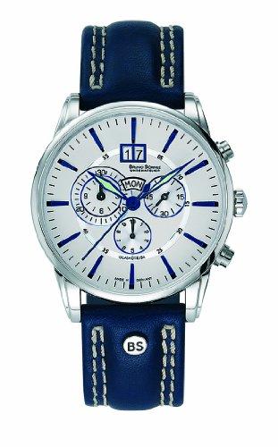 Bruno Söhnle Herren-Armbanduhr Atrium Chronograph Quarz Leder 17-13054-243