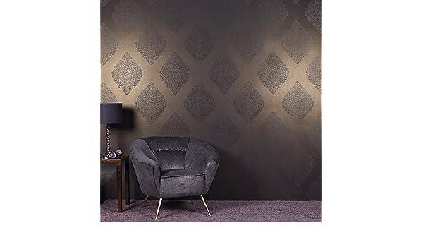 Lustre W365//07 A Black Edition Zari Beaded Design Wallpaper Roll
