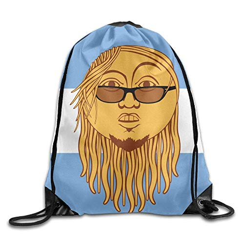 Art Drawstring Pack Beam Mouth Gym Sack Shoulder Bags for Men & Women ()