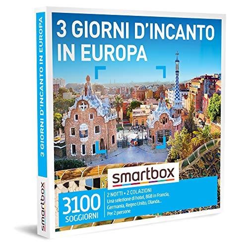 Smartbox - 3 giorni d'incanto in europa cofanetto regalo soggiorni  2 notti con colazione per 2 persone