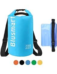 Blusmart 10L / 20L wasserdichte trockene Beutel + wasserdichtes Taillen-Beutel, vervollkommnen für Kayaking / Bootfahrt / Kanu / Fischen / Rafting / Schwimmen / Kampieren / Snowboarding