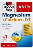 Doppelherz Magnesium Calcium+D3, 3er Pack (3 x 71 g)