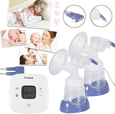 Extractor de Leche Electrónico Amama Tacto Masaje Cómodo Saludable Bebé Alimentación 2 Extractores de Leches Eléctricos Sacaleches