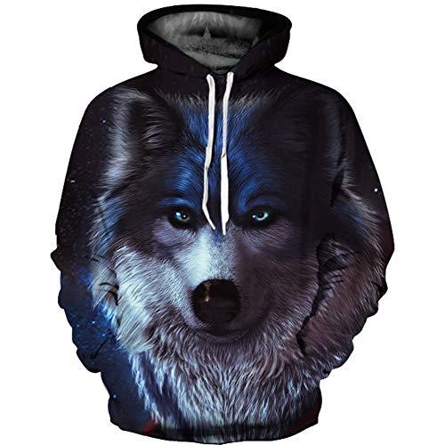 QWE Kapuzen-Sweatshirt, 3D-Bedruckt, mit Kapuze, langärmelig, langärmelig, Unisex-Kleidung, langärmlig Small/Medium 5