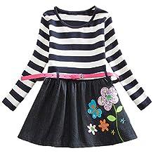 Niña bebé Vestido 1-7 años,Vestido de Niña y Mama Vestido Largo Lindo