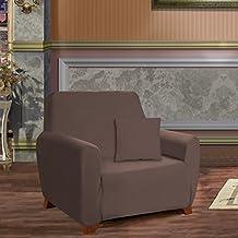 Elegant Comfort - Funda para butaca, Microfibra, chocolate, Chair