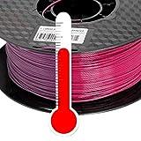 PLA 3D Drucker Filament 1,75mm Farbwechsel Temp. Lila zu Rot