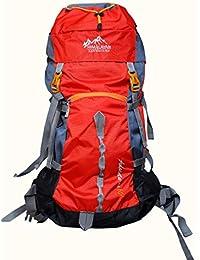 Himalayan Adventures 60 Ltrs Red Backpack/Rucksack/Travelling Bag/Hiking Bag/Adventure Bag/Camping Bag (Nylon,...