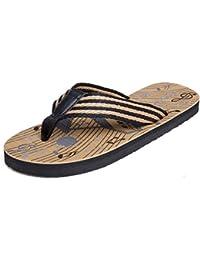 männer ist cool, hausschuhe, dicke boden - flip - flops, männer sommerluft strandschuhe sandalen,41,brown