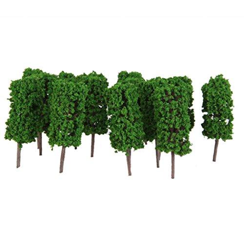 50x-alberi-cilindro-verde-chiaro-per-modello-treno-ferrovia-diorami-scala-1300