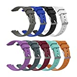 #5: Quick Release Soft Silicone Band Wrist Strap Replacement 22mm for ASUS ZenWatch 3