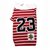 SRI Imported High Quality Printed Cute T-Shirt For Puppies (LARGE, RED WHITE)
