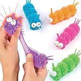 Baker Ross Coole Leuchtende Raupen - Spielzeug für Kinder als Mitgebsel und Preis beim Kindergeburtstag - 4 Stück