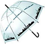 OOTB Dome Umbrella, Skyline Paris Regenschirm, 84 cm, Transparent