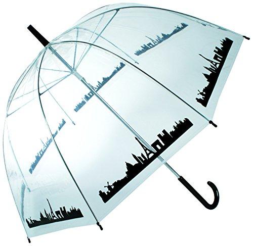 OOTB Dome Umbrella, Skyline Paris Paraguas clásico, 84 cm, Transparen