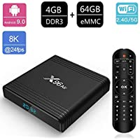 Android 9.0 TV Box, X96 Air 4GB RAM / 64GB ROM Amlogic S905X3 64-Bit Quad-Core ARM Cortex A55 CPU Dual Wifi 2.4G + 5G / Bluetooth / 1000M Ethernet/H.265 3D 8K USB3.0 TV Box,4gb+64gb