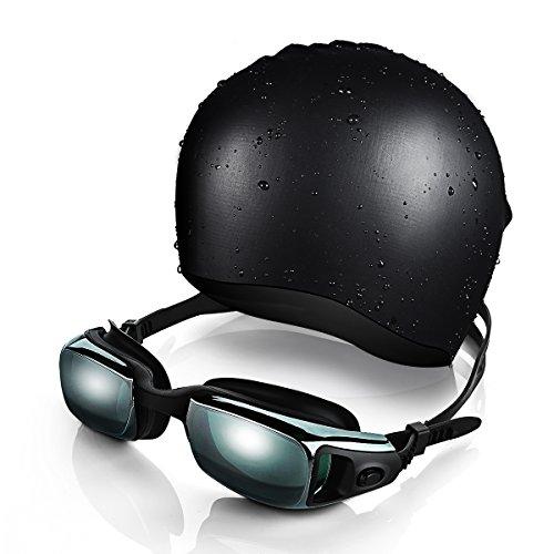 Gafas de Natación y Gorra de Natación de OMorc, Silicona Premium Gaf