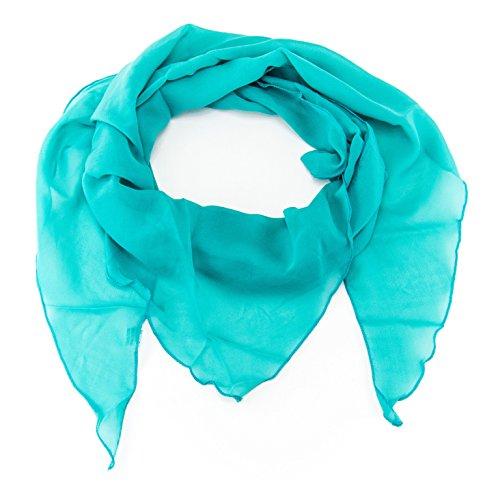 MANUMAR Schal für Damen einfarbig | Hals-Tuch in türkis als perfektes Herbst Winter Accessoire | Klassischer Damen-Schal | Stola | Mode-Schal | Geschenkidee für Frauen und Mädchen