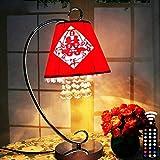 CTD Hochzeit Tischlampe Schlafzimmer Nachttischlampe 6W Intelligent Full-Color Toner Promise Dimmen Ausgestattet mit Fernbedienung