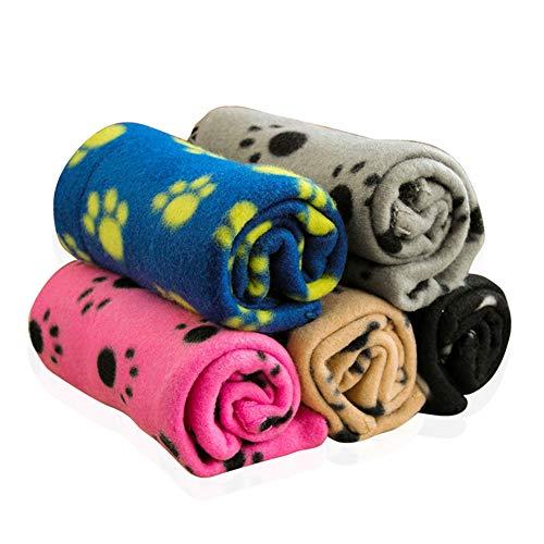 Z-Chen 5er Pack Super Softe Warme und Weiche Decke für Haustier Hundedecke Katzendecke, 60cm x 70cm