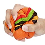 Squishy Toys, Quistal 4 Inch Kawaii Cat Hamburger Bread Squishies Jumbo Slow Rising Stress Relief Squeeze Toy (Yellow)