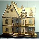Jazmín Gótico Casa De Muñecas 1:12 Escala Corte Lazer Paquete Plano Madera Kit -