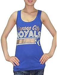 MLB Mujer Kansas City Royals deportivo de cuello redondo Camiseta de (Vintage), MLB, mujer, color azul, tamaño large