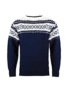 Dale of Norway - 92521-C, Pullover Unisex - adulto, Blu (Navy/Off White), L
