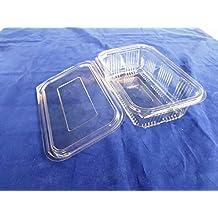 (Pack of 100) 750ml ensalada contenedores de almacenamiento redonda con bisagras Take Away comida rápida desechables tapas de plástico transparente caja de almacenamiento