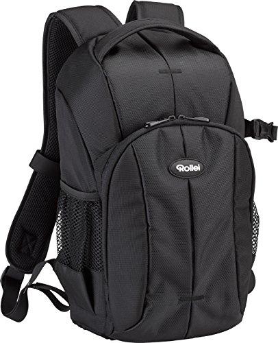 Rollei Outdoor Fotorucksack 10 L - Rucksack mit praktischen Fächern inkl. Regenschutz schwarz