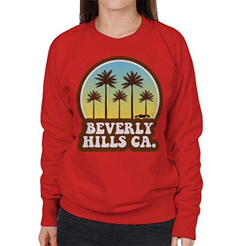 Coto7 Beverly Hills California 70s Beach Drive Women's Sweatshirt