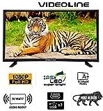 VIDEOLINE 32 inches Full HD & IPS Pannel LED TV (Black) (2018 Model)