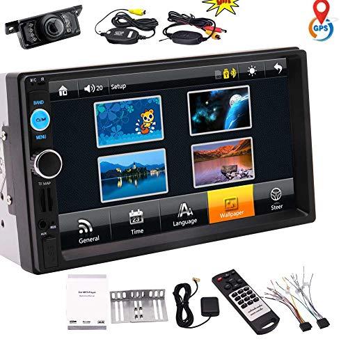 EINCAR 7-Zoll-Schlag-Doppel-DIN-Car-Spieler Auto Audio Stereo kapazitiver Touch Screen mit 8 GB GPS Navigation Karten-Karte Bluetooth Musik-Video von USB/SD-FM-Radio f¨¹r Universal-Fernbedienung W