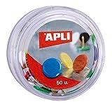 APLI 11733 - Chinchetas colores surtidos, 50 unidades