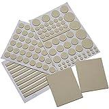 Mudder Almohadillas Protectoras de Fieltro de Muebles y Suelo, Blanco Cremoso (132 Piezas)