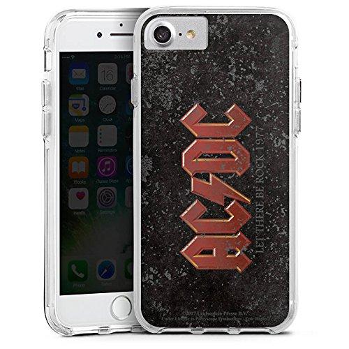 Apple iPhone 7 Bumper Hülle Bumper Case Glitzer Hülle Acdc Fanartikel Merchandise Bumper Case transparent