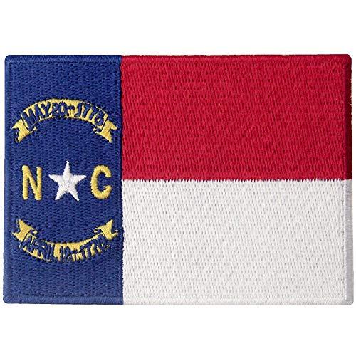 USA AMERICAN State Flagge Patch bestickte Applikation Eisen auf Sew auf Emblem NC -
