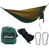 gipfelsport Hängematte - Outdoor Reisehängematte mit Aufhängeset, 2xSeile, grün/braun