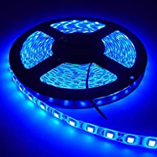 MTC 5 Meter Waterproof and Cuttable LED Strip/Cove Light 5050 with Driver - Blue Color