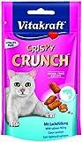 Vitakraft Katzensnacks, Knusprige Getreidekissen mit Lachs, Cremige Füllung, Gegen Haarballen, Crispy Crunch, 28815, 60 g