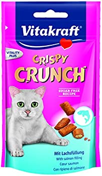 VITAKRAFT Crispy Crunch C½ur Saumon Friandise pour Chat 60 g