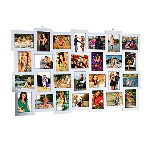 Melko Bilderrahmen 28 Fotos Fotorahmen Bildergalerie Foto Bilder Rahmen Holz Collage Silber 10x15