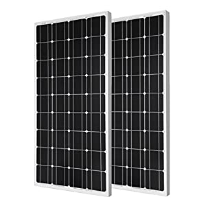 200 Watts Solaranlage ECO-WORTHY  12 V – 2 x 100W Solarmodul Monokristallin