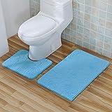 Deux Pièces De Tapis Tapis De Bain Baignoire Anti-Skid Épaissie Toilettes40 * 50 + 50 * 80 Combinaison , C