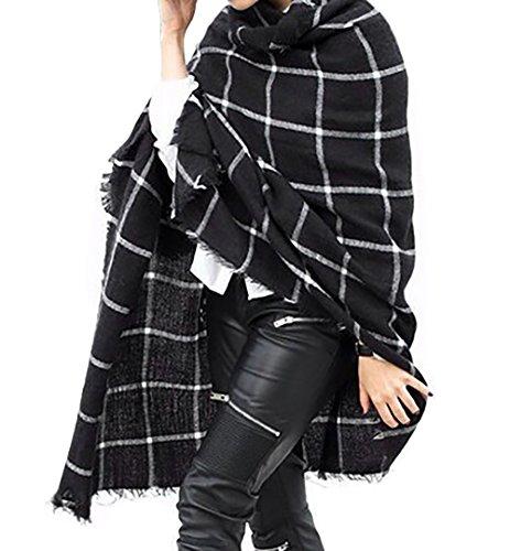 LAI MENG Donna Moda Inverno Caldo Sciarpa Scialle Lungo Morbidi Sciarpe 60x190cm