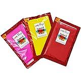 meSleep Gulaal Packets of Gulaal (5 cm x 13.48 cm x 21 cm, Set of 3)