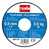 Telwin 802179 Bobina Filo Animato per Saldatura, 0.9 Mm - 0.8 Kg, Grigio