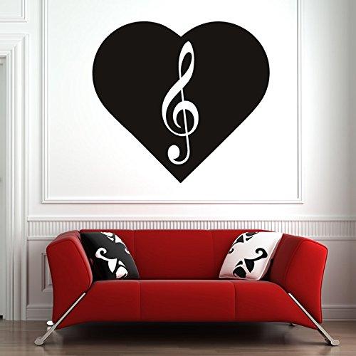 Violinschlssel-im-Herzen-Musiknoten-Instrumente-Wandsticker-Musik-Kunstabziehbild-verfgbar-in-5-Gren-und-25-Farben-X-Gro-Wei