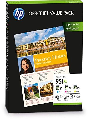 Preisvergleich Produktbild 1x Original Value Pack für HP Hewlett Packard Officejet PRO 251 DW HP 951xl HP951xl CR712AE - Magenta, Cyan, Yellow
