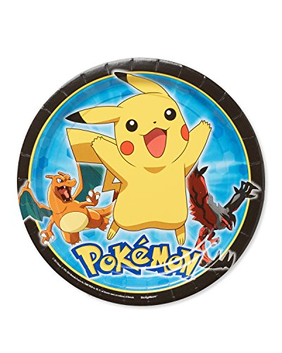 Amscan International 551844  Pokémon Assiette en Carton 23 cm